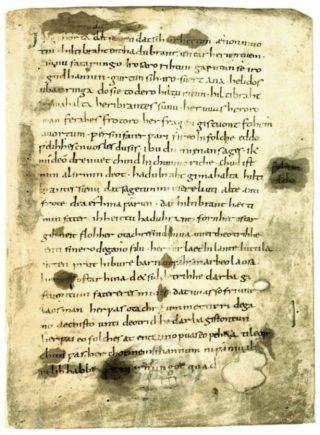 Eerste pagina van het Hildebrandslied - cc