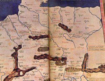 'Germania' op een Romeinse kaart uit de tweede eeuw - cc