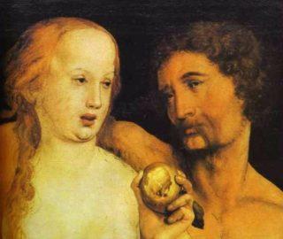 Hans Holbein, Adam en Eva eten een appel