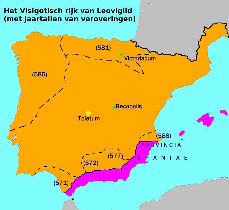 Het Visigotische rijk van Leovigild