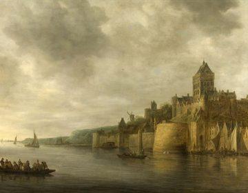 Jan van Goyen, De Waal bij Nijmegen (met kasteel)