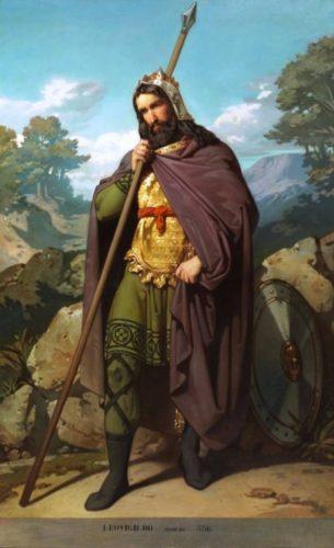 Negentiende-eeuwse verbeelding van koning Leovigild