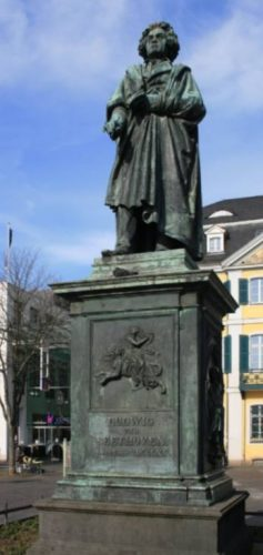 Standbeeld van Beethoven in Bonn