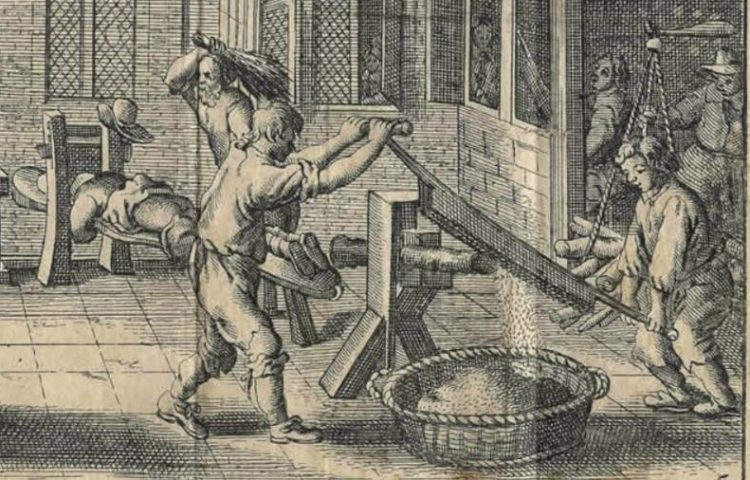 Het Rasphuis in 1662. Uit: Melchior Fokkens, 'Beschrijvinge der wijdt-vermaarde Koop-stadt Amstelredam'