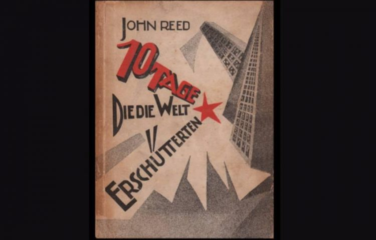 Cover van een Duitse uitgave van '10 dagen die de wereld deden wankelen' uit 1922