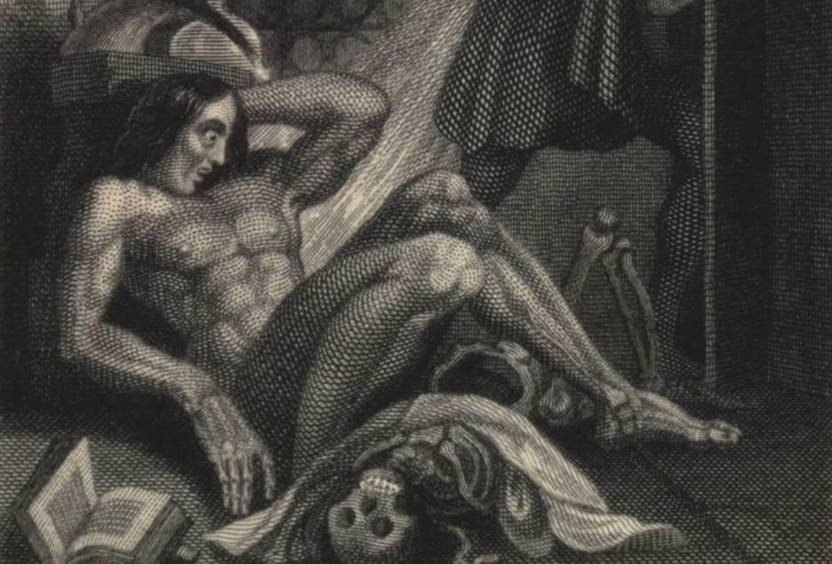 Afbeelding uit een uitgave van de Frankenstein-roman uit 1831