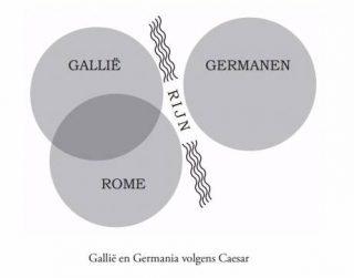 Gallië en Germania volgens Caesar (James Hawes)