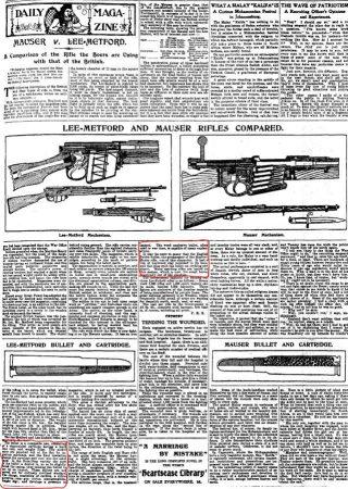'Mauser vs. Lee-Metford' Daily Mail, 11 Januari 1900, 7.