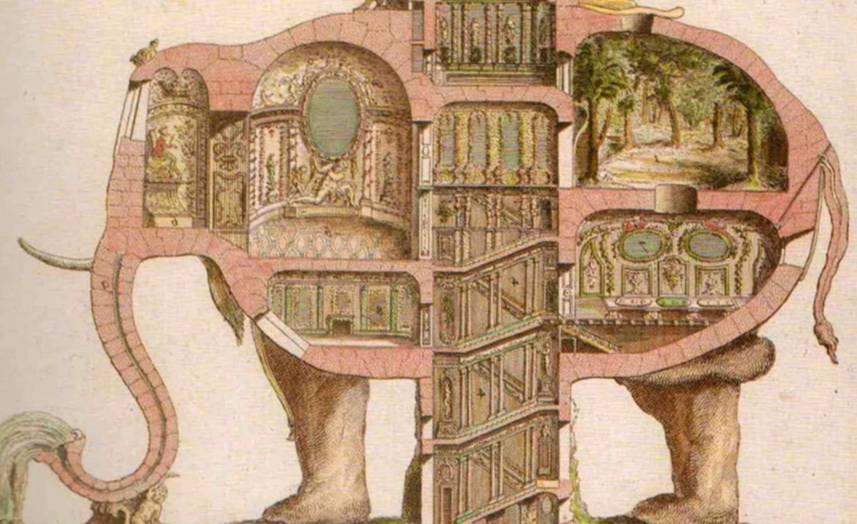 Model voor de olifant van Charles Ribart