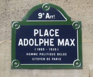 Adolphe Max-plein in Parijs - cc