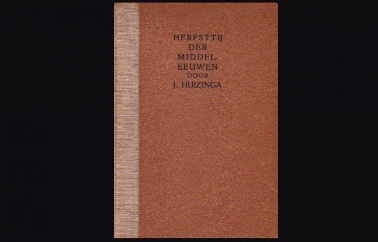 Cover van een oude uitgave van 'Herfsttij der Middeleeuwen'