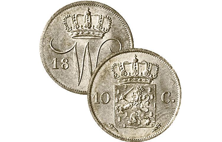 Het dubbeltje uit 1818 (Afb: www.theopeters.com)