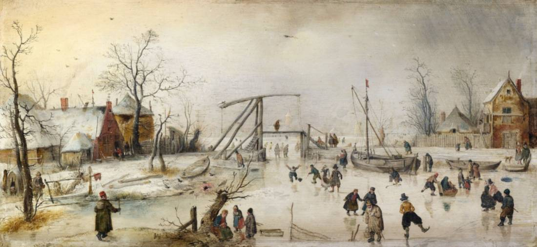 IJsgezicht. ca. 1610-1620 - Hendrick Avercamp (National Gallery of Ireland)
