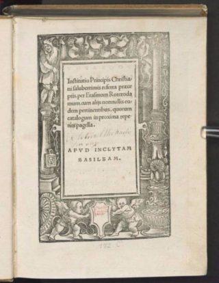'Institutio principis christiani' van Erasmus