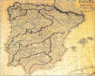 Kaart van Spanje door De Velasco