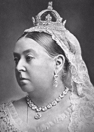 Koningin Victoria met de diamant