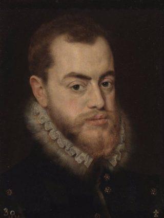Portret van Filips II (Giacomo Antonio Moro)