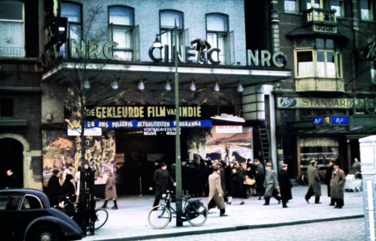 'De Cineac NRC bioscoop aan de Coolsingel in Rotterdam. De bioscoop werd bij het bombardement op 14 mei 1940 verwoest'. Bron: Beeldbank WO2, Dia Archief Mr. A. Hustinx, beeldnummer 172875.
