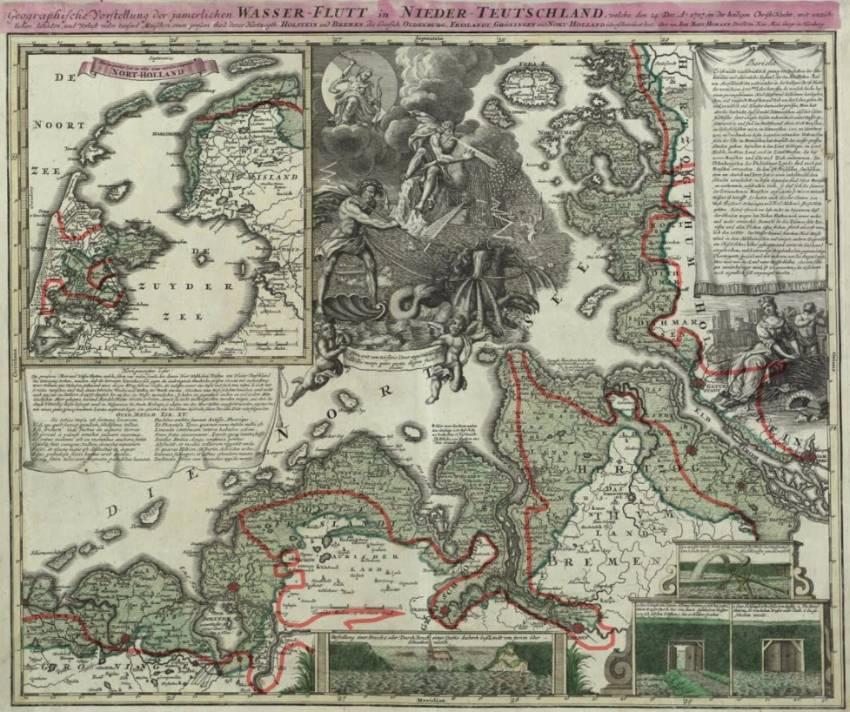 Correcties op de kaart van Homann (boven). Bron: Ton Lindemann.