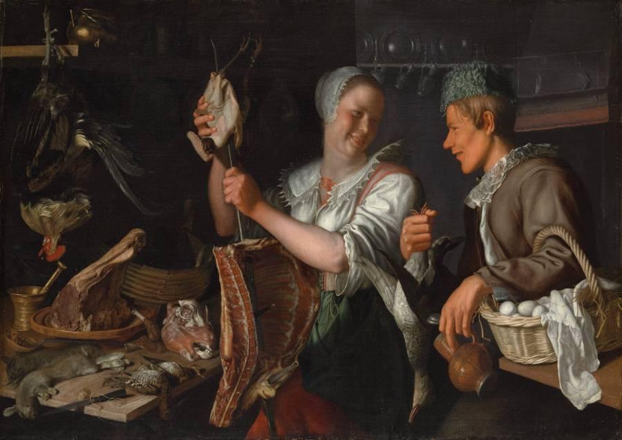 'Keukenscene' van Peter Wttewael  (The Metropolitan Museum of Art)