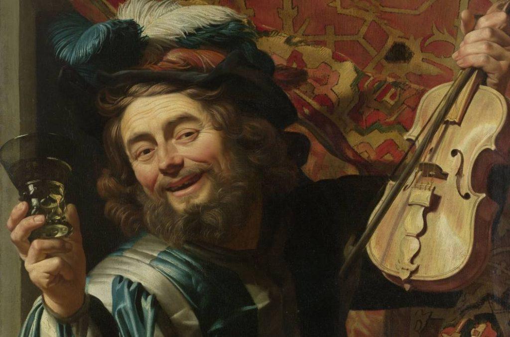 Gerard van Honthorst, De lachende vioolspeler, 1623 - Rijksmuseum, Amsterdam