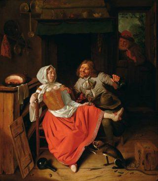 Pieter van Roestraeten, De losbandige keukenmeid, 1665/70 - Frans Hals Museum, Haarlem