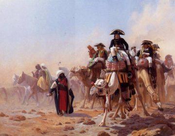 Jean-Léon Gérôme (1867): Napoleon en zijn generale staf in Egypte