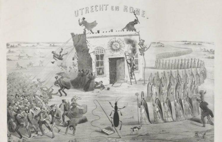 Aprilbeweging (1853) - Spotprent Utrecht en Rome