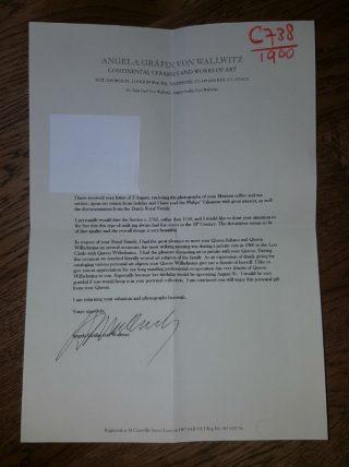 Brief bij de haarlok  (Historiek - S. Swart)