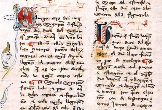 Embajada a Tamorlán - Detail uit de reisbeschrijving van Ruy González de Clavijo (wiki)
