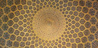 Het plafond van de Sjeik Lotfollah-moskee