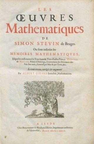 Oeuvres mathematiques, werk van Simon Stevin uit 1634