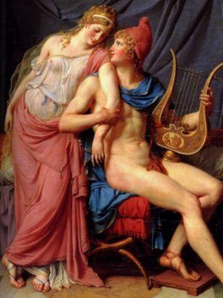 Paris en Helena, door Jacques-Louis David (1788)