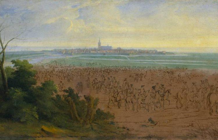 Rampjaar - Het Franse leger voor Naarden op 20 juli 1672 door Adam Frans van der Meulen