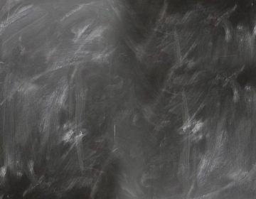 Schoolbord met vegen (cc - Pixabay - geralt)