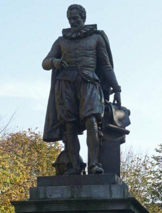 Standbeeld van Simon Stevin op het Simon Stevinplein in Brugge (cc)