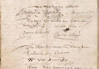 Unie van Utrecht, enkele handtekeningen onder het verdrag
