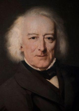 Portret van Van Lennep door Johann Georg Schwartze (detail)