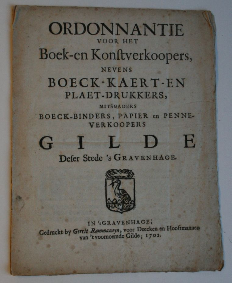 Ordonnantie van het Haagse boekverkopersgilde (1702)