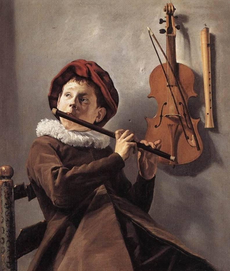 Fluitspelende jongen - Judith Leyster, 1635 (Stockholm, Nationalmuseum)
