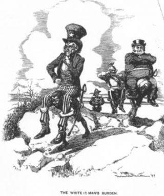 The White Men's Burden -  Afbeelding uit Life Magazine, maart 1899