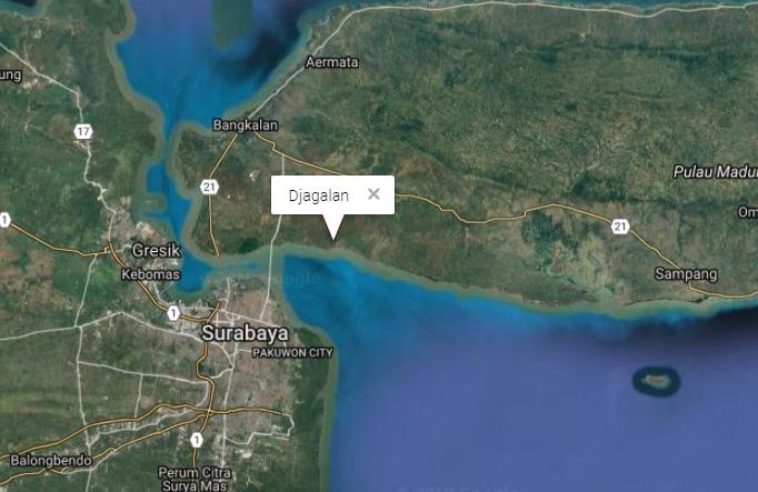 In kampong Djagalan gebeurde het. (https://geographic.org)