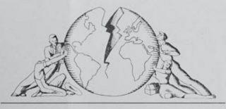 Het logo van de World Citizens Association, een van de vele organisaties die voor een wereldwijd federalisme pleitten. Bron: Angst en Vrijheid