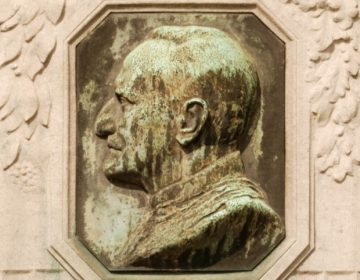 Detail monument voor Albert Thys in Brussel - cc