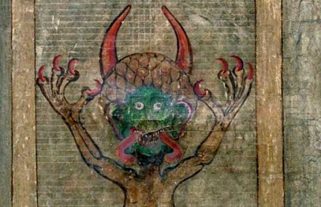 Afbeelding van de duivel in de Codex Gigas