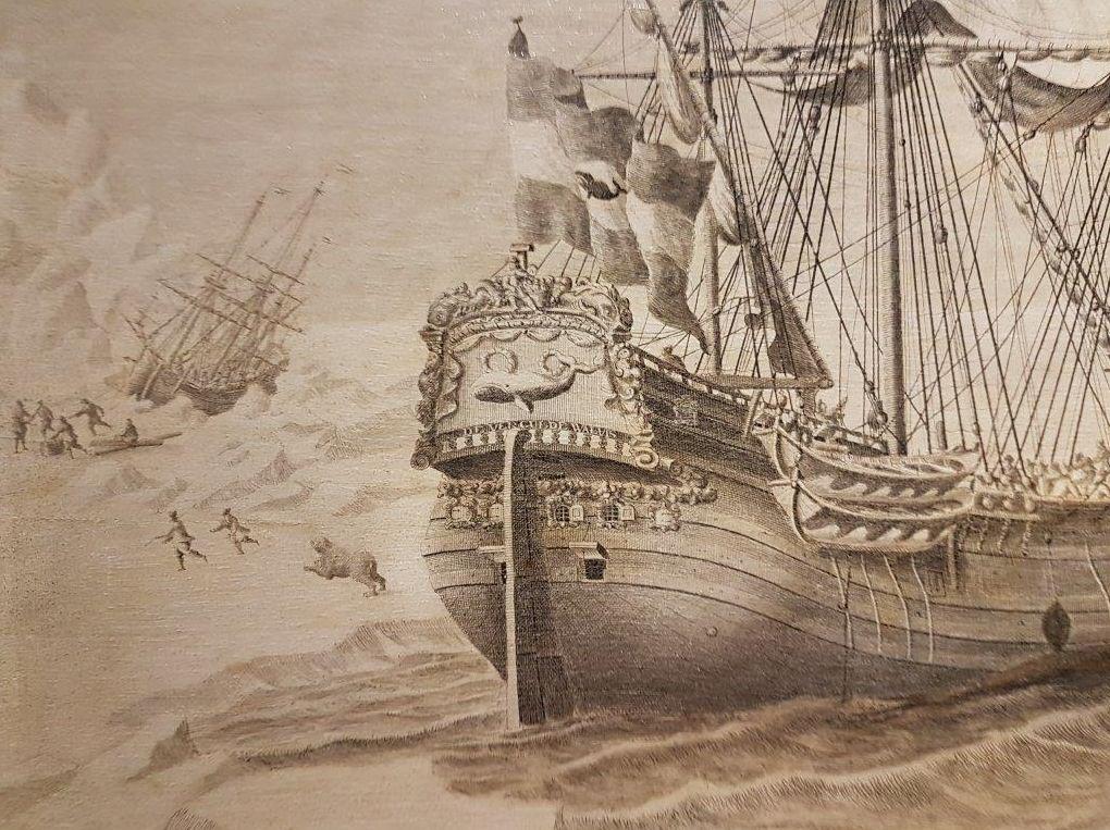 Detail van een pentekening van A. Salm (Collectie Scheepvaartmuseum)