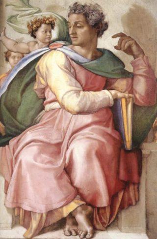 Jesaja op een fresco van Michelangelo in de Sixtijnse Kapel
