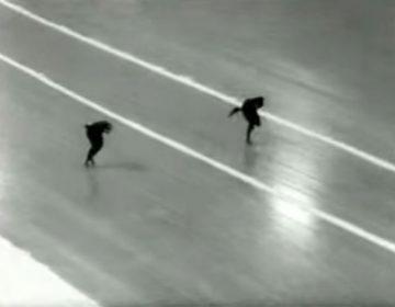 Kees Broekman tijdens zijn historische Olympische rit