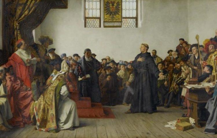 Luther op de Rijksdag van Worms (1521) - Von Werner, 1877