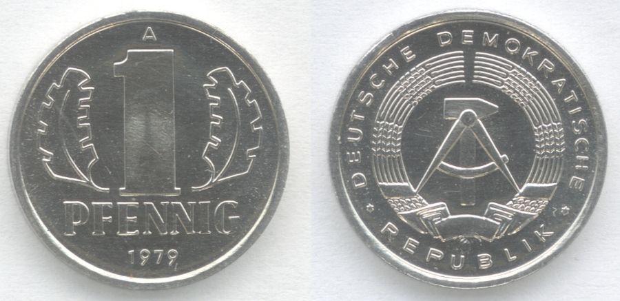 Pfennig (1 cent) uit de DDR (wiki)